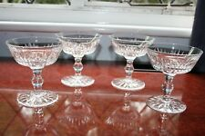 """4 WATERFORD CRYSTAL """"EILEEN"""" CHAMPAGNE COUPE GLASSES SUPER CONDITION 4.3/8"""" TALL"""