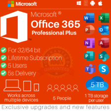 ✅🔥 MICR0SOft Office 365*2020 Pro Plus Lifetime Account For 5 Devices And 1TB ✅