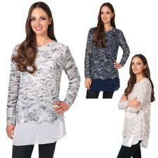 Polyester Christmas Winter Jumpers & Cardigans for Women