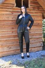 Lederoverall Leder Catsuit Overall Schwarz  Größe L 44 Jumpsuit Lamm-Nappa 417