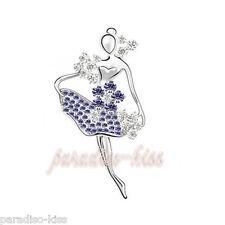 spilla da donna cristallo swarovski elements ballerina Violette SP56