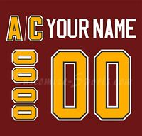 Chicago Wolves Customized Number Kit for 2001-Present Red Jersey