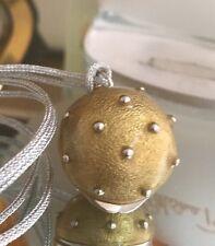 Gorgeous Estee Lauder Prescriptives Calyx Ball Necklace Solid Perfume Gold