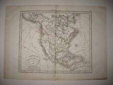ANTIQUE 1834 NORTH AMERICA MAP UNITED STATES TEXAS REPUBLIC CALIFORNIA FLORIDA