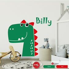 Dinosaur Wall Art Sticker Personalised Boys Girls Jurassic Bedroom Dino Decal