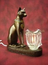 Egyptian Cat Burner Wax Tart Scented Oil Candle Warmer Electric Polyresin