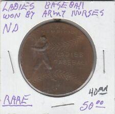 (H) Scd - Ladies' Baseball - Won by Army Nurses - 40 Mm - Rare