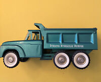 Structo Hydraulic Dump Truck Pressed Steel 1960s Teal/green Nice Condition Rare