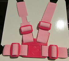 HARNESS REINS for BABY in SILVER CROSS WILSON COACH BUILT PRAMS - PINK