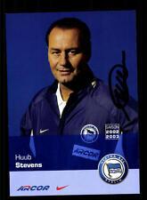 Huub Stevens Autogrammkarte Hertha BSC Berlin 2005-06 Original Signiert+A 128279