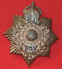 British Army. Royal Marines Genuine Portsmouth Bandsman's Helmet Plate Badge