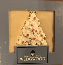 Wedgwood White Jasper Multi Color Christmas Tree Ornament