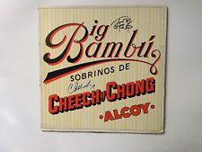Cheech and Chong signed lp Big Bambu w/ rolling paper