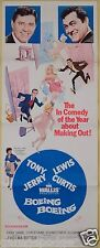 1965 BOEING BOEING ORIGINAL 14x36 THEATER MOVIE POSTER JERRY LEWIS TONY CURTIS