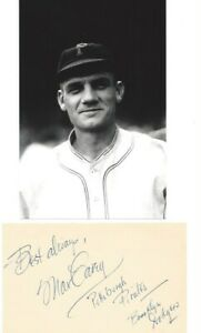 Vintage Max Carey Pirates and Dodgers Signed and Inscribed  3x5 HOF D 1976 JSA
