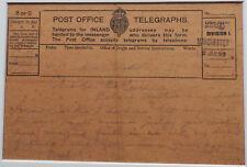 NOEL COWARD: Handwritten Transcript of Telegram in Frame