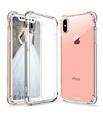 iPhone X Case Crystal Clear Hard Back Soft TPU Frame