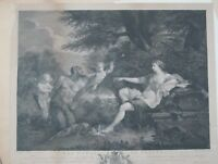 Antique Original Etching After Filippo Lauri The Power of Beauty by J Boydell