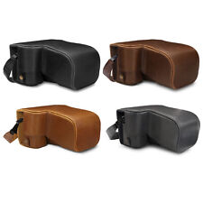 MegaGear Ever Ready Leather Camera Case for Sony Alpha A6100, A6400(18-135mm)