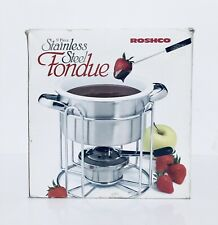 Roshco 9 Piece Stainless Steel Fondue Set New In Open Box