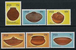 1988 FIJI POTTERY SET OF 6 FINE MINT MNH/MUH