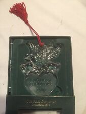 Waterford Crystal Marquis Our First Christmas 2002 Ornament WEDDING DOVE In Box