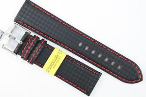 MORELLATO  Uhrenarmband 22mm Schwarz Kalbsleder-Carbon-Look  Water Resistant
