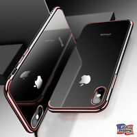 For iPhone X 8 6s 7 Plus Clear Soft Silicone TPU Skin Phone Case Cover Accessory