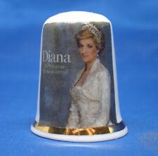 Birchcroft China Thimble -  Diana a Princess Remembered -- Free Dome Box