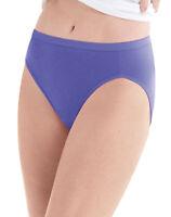Hanes Women Plus Cotton Hi-Cut Panties 5-Pack Assorted Colors Cool Comfort 11-12