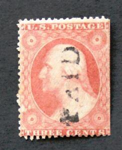 RNV133******   SCOTT #26A,  3c GEORGE  WASHINGTON,  USED,   c1857,  CV$150