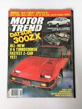 Motor Trend Magazine November 1983 - Datsun 300ZX - 1984 Mustang - Mercedes 190E