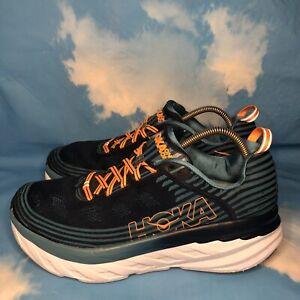 Hoka One One Mens Bondi 6  Blue Running Shoes Lace Up Size US 12