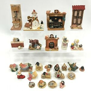 Peter Fagan Cats Figurines Bundle x26 Lot Collectable Resin Ornaments 173203