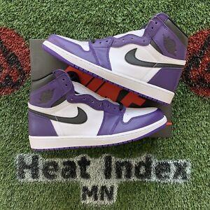 "Air Jordan 1 Retro High OG ""Court Purple 2.0"" - Size 12"