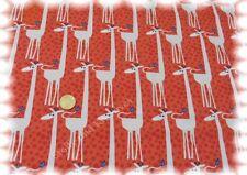 Girafe Baumwolle Popeline orange Hilco 50 cm Webware mit Giraffen