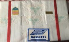 Corredo matrimoniale Bassetti ricamato a mano MADE IN ITALIA