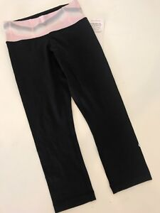NWT 4 Lululemon Wunder Under crop pant Pink quilt Yoga Tight Bottom Luon