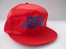 RARE VINTAGE DIET PEPSI RED STRAP BACK HAT SHINY SATIN EXCELLENT CONDITION