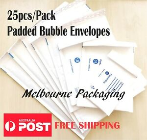 Bubble Padded Mailer Envelope 25pc/Pack White 100x180 120x180 160x230 215x280