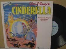 CINDERELLA- 1959 Film Walt Disney Soundtrack LP UK Vinyl EX+ RARE 1987 CATALOGUE