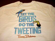 TOMMY BAHAMA 2XL Mens T Shirt NEW TAG White BIRDS TWEETING $59.50 XXL 2X