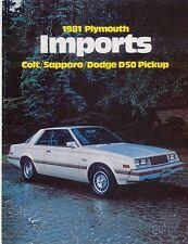 Plymouth Colt Sapporo Dodge D50 1981 Original USA Sales Brochure Mitsubishi