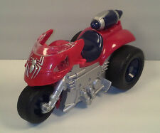 """2004 Driving & Light-Up Spider-Man Action Figure Movie Motorcycle 6"""" Marvel"""
