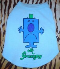 Cute Blue Mr Grumpy Mr Men Dog T Shirt 13 Inch 33.5cm Length