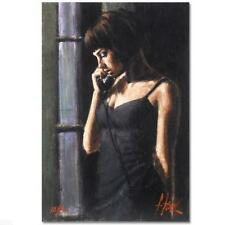 """""""THE PHONE CALL"""" by FABIAN PEREZ HOT & SPICY! EMBELLISHED GICLEE ON BOARD! MINT!"""