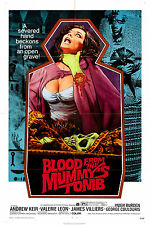 Blood From The Mummy's Tomb - A4 Laminated Mini Movie Poster - Hammer Horror
