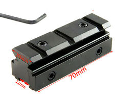 """Tactical Dovetail 3/8"""" 11mm to 20mm Picatinny Rail Adapter Rifle Scope Mount"""