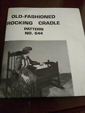 U-Bild Enterprises Woodworking Old Fashioned Rocking Cradle Pattern 644