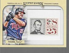 2011 Topps Gypsy Queen - JIM THOME - Stamp Insert #243 - TWINS #d /10